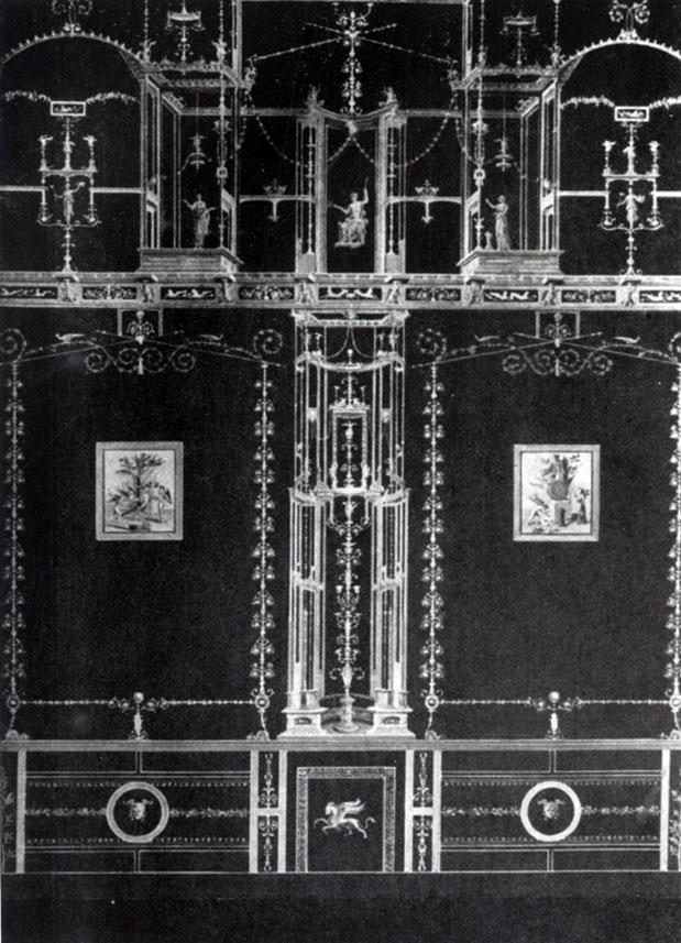 281 а. Помпейская роспись третьего стиля. Конец 1 в. до н. э. — начало 1 в. н. э.