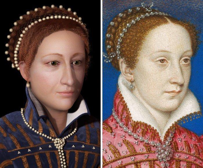 13. Мария Стюарт, королева Шотландии воссоздание, известные люди, история, лицо, люди прошлого, облик, реконструкции, реконструкция